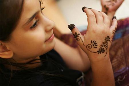 Peinture au henné