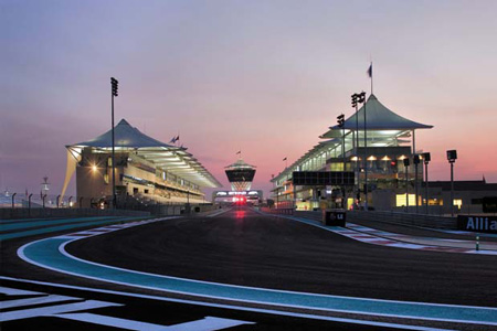 Behind the scenes  at Yas Marina Circuit