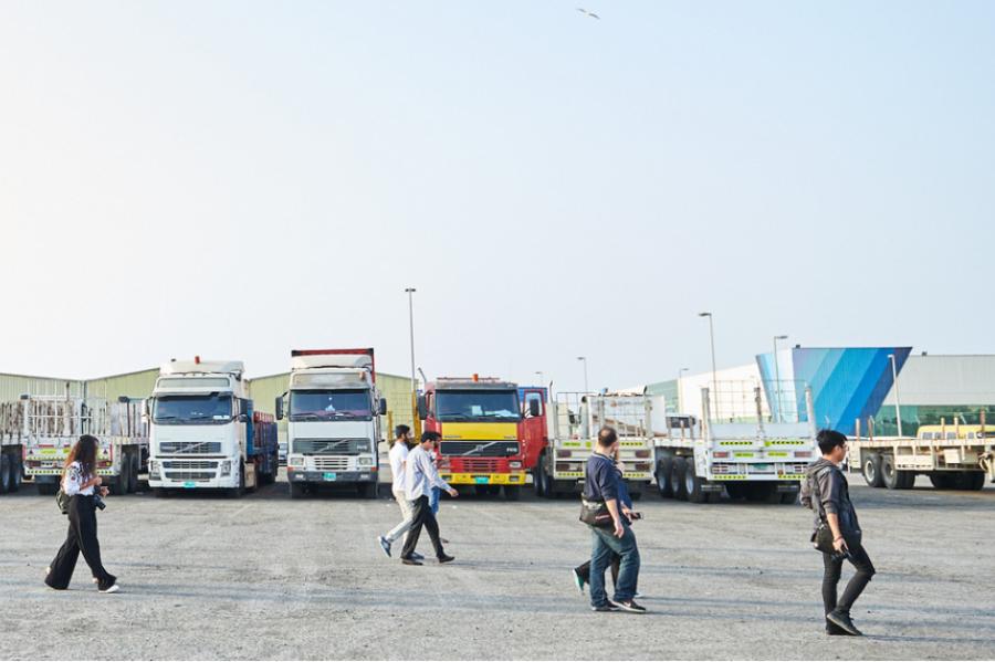 جولة تصوير في ميناء زايد
