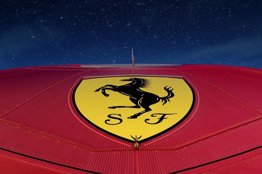 Roof Walk at Night Experience at Ferrari World